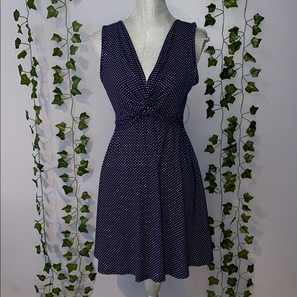 Rolla Coster Dresses & Skirts - Woman's Rolla Coster Navy/White Polka Dot Dress S